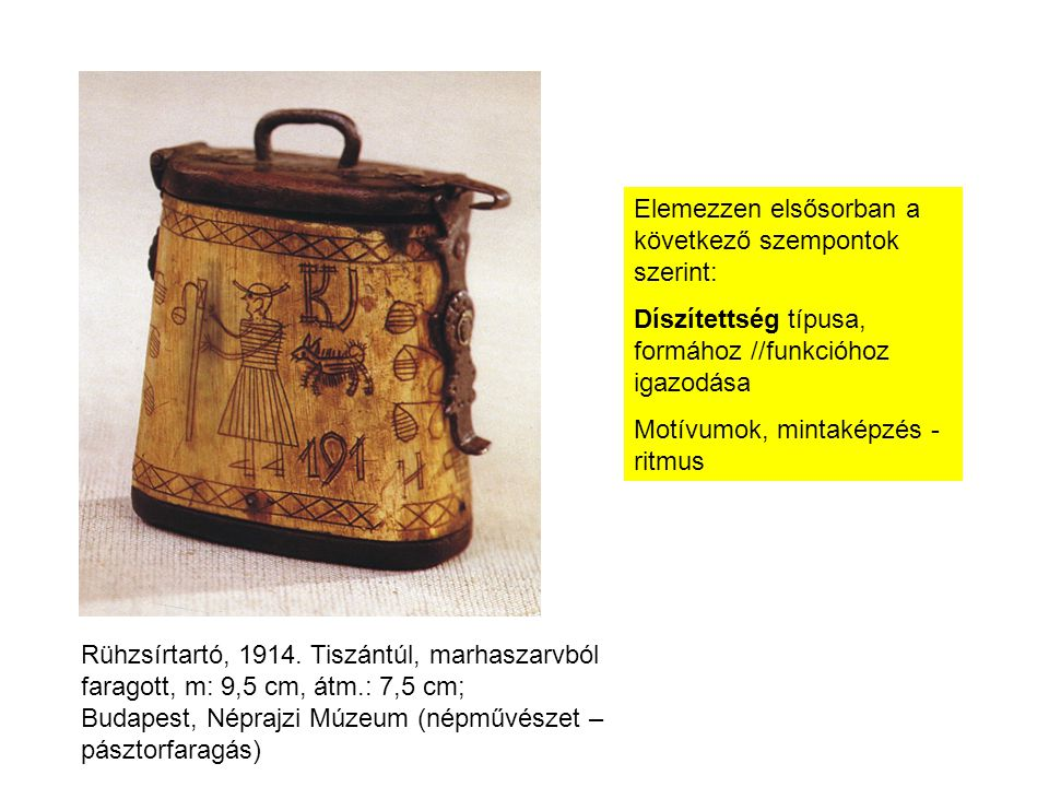 Rühzsírtartó, 1914.