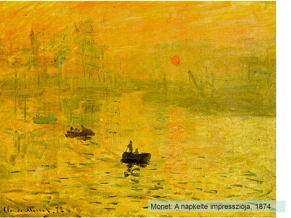 Monet: A napkelte impressziója, 1874