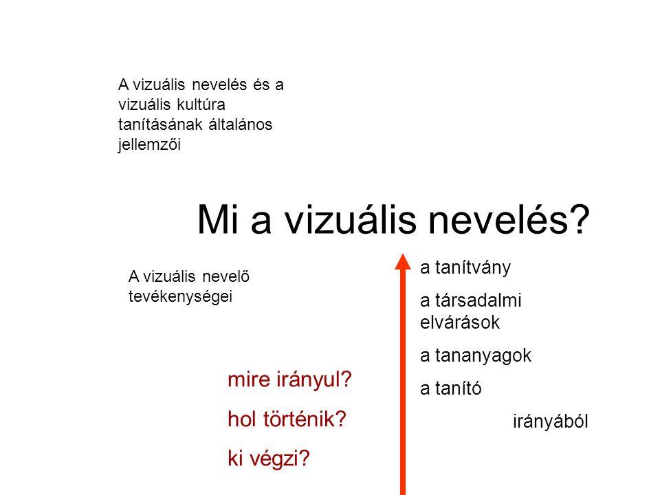 Mi a vizuális nevelés.(Első megközelítésként) A vizualitásra (azaz a látásra) alapozott nevelés.