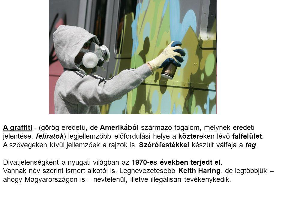 A graffiti - (görög eredetű, de Amerikából származó fogalom, melynek eredeti jelentése: feliratok) legjellemzőbb előfordulási helye a köztereken lévő