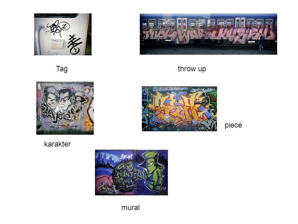 Tagthrow up karakter piece mural