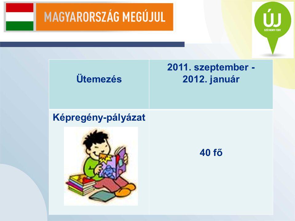 Ütemezés 2011. szeptember - 2012. január Képregény-pályázat 40 fő
