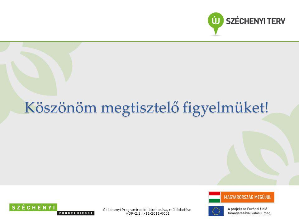 Széchenyi Programirodák létrehozása, működtetése VOP-2.1.4-11-2011-0001