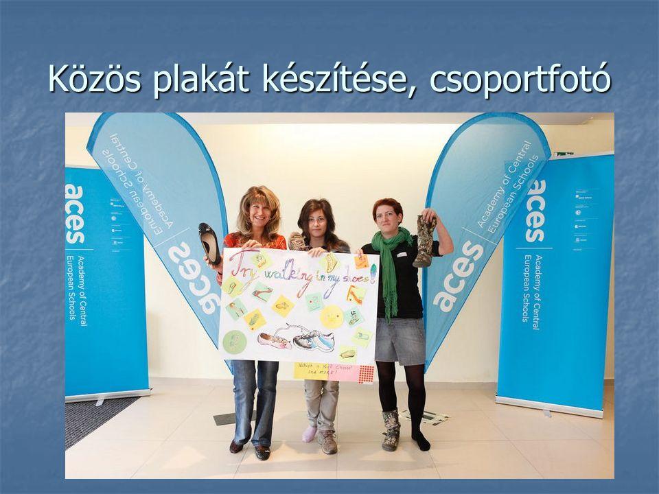 Közös plakát készítése, csoportfotó