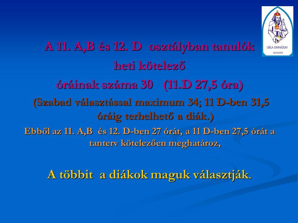 A 11. A,B és 12.