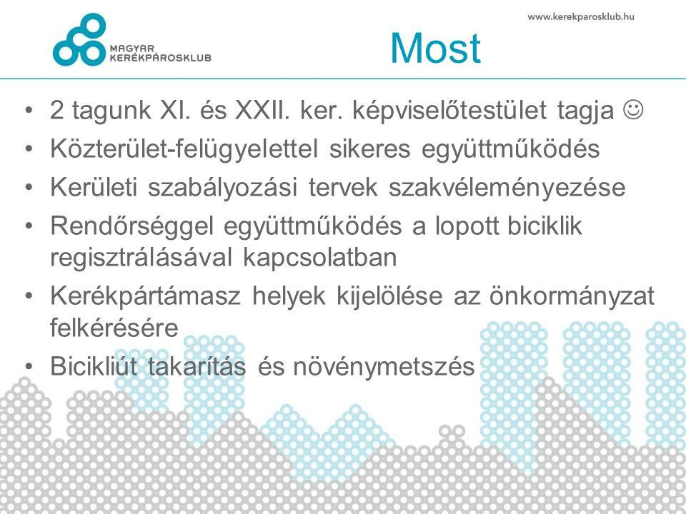 Most 2 tagunk XI. és XXII. ker. képviselőtestület tagja Közterület-felügyelettel sikeres együttműködés Kerületi szabályozási tervek szakvéleményezése