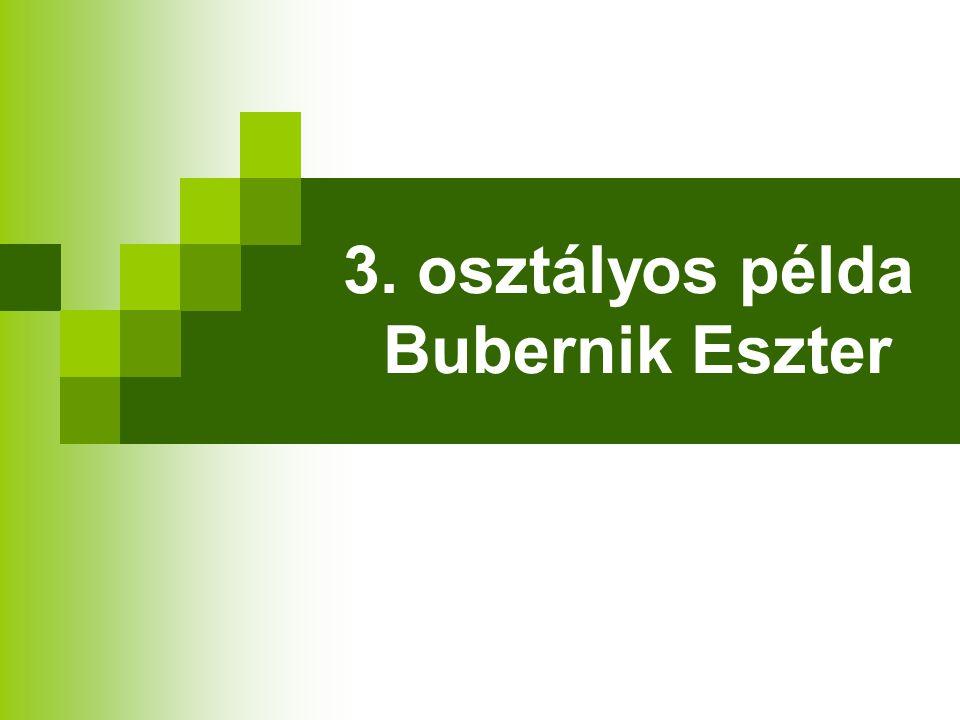 3. osztályos példa Bubernik Eszter