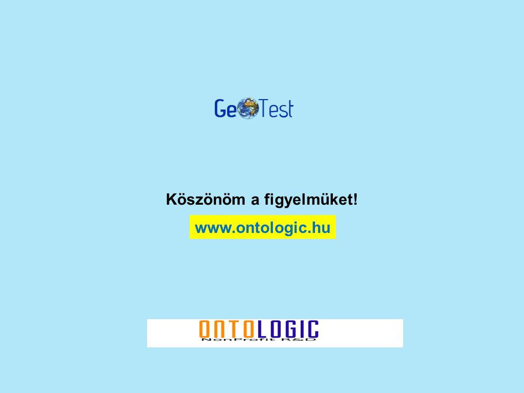 Köszönöm a figyelmüket! www.ontologic.hu