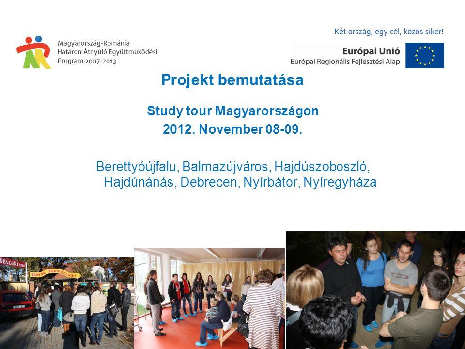 Projekt bemutatása Study tour Magyarországon 2012.