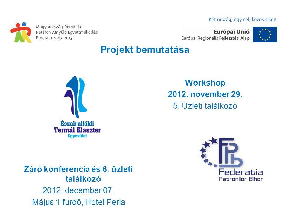 Projekt bemutatása Workshop 2012. november 29. 5.