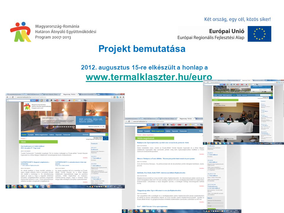 Projekt bemutatása 2012.