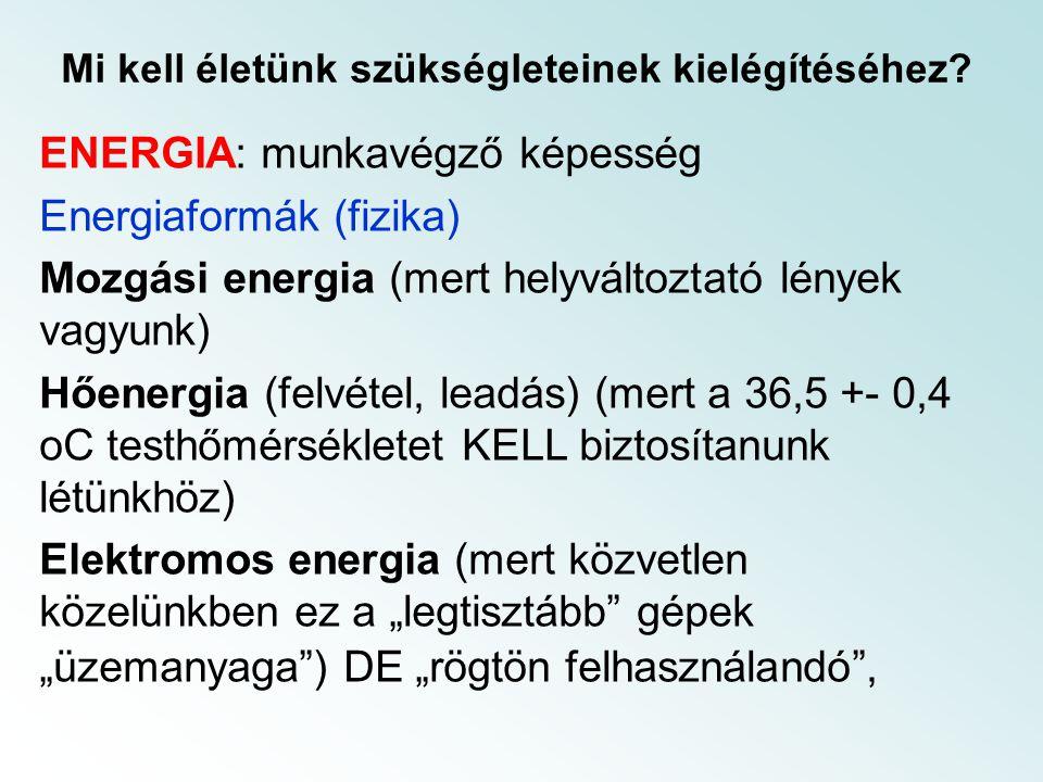 A hatásfok növelés eszköze (2) Kapcsolt fűtő, hűtő és erőműi rendszer.