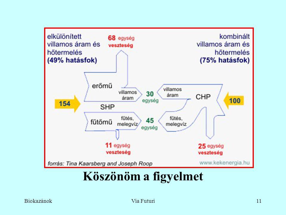 BiokazánokVia Futuri11 Köszönöm a figyelmet