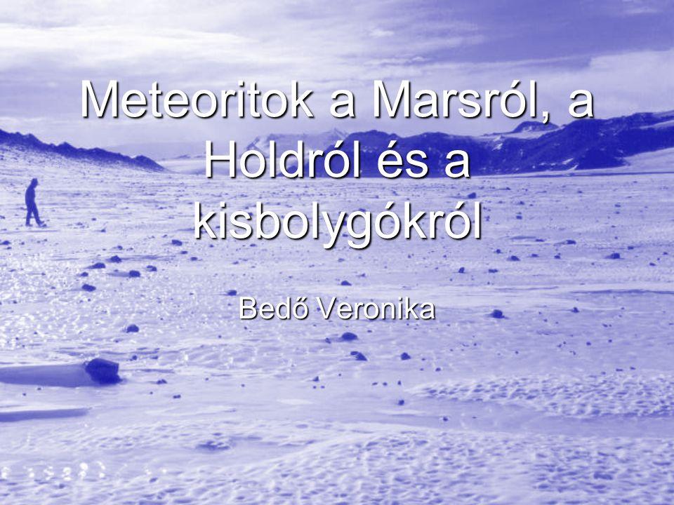Meteoritok a Marsról, a Holdról és a kisbolygókról Bedő Veronika