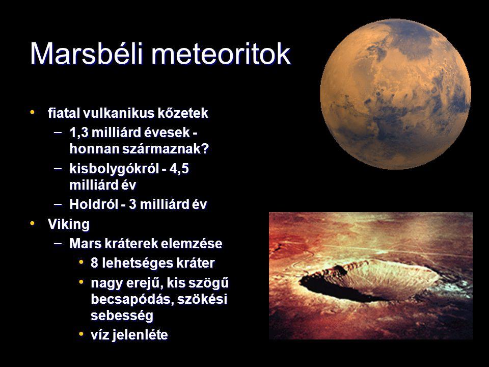 Újabb marsbéli meteoritok LEW 88516 LEW 88516 – 1988.