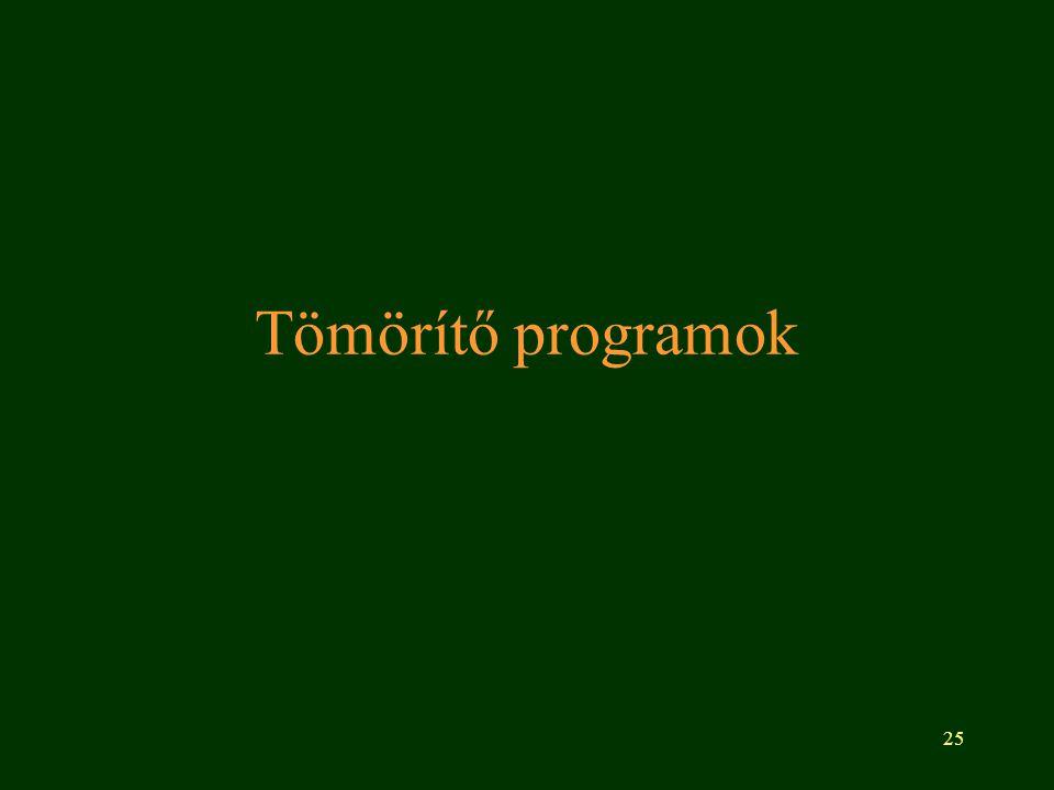 25 Tömörítő programok