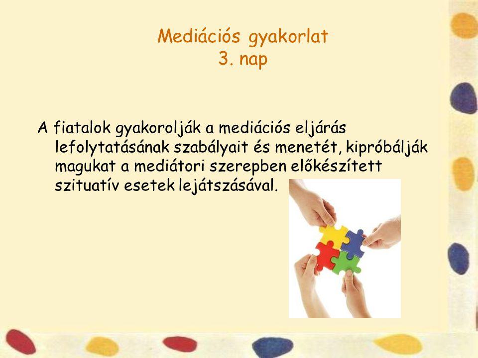 Mediációs gyakorlat 3.