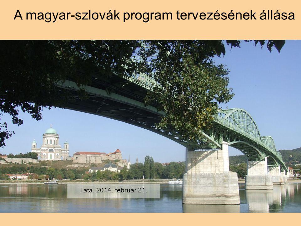 A magyar-szlovák program tervezésének állása Tata, 2014. február 21.