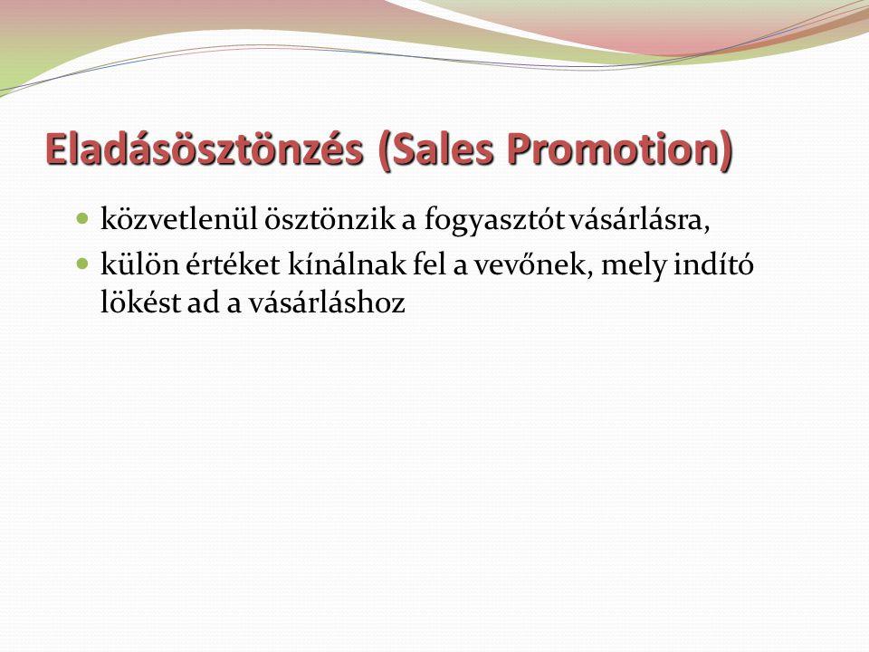 Az eladásösztönzés irányulhat fogyasztókra kereskedőkre
