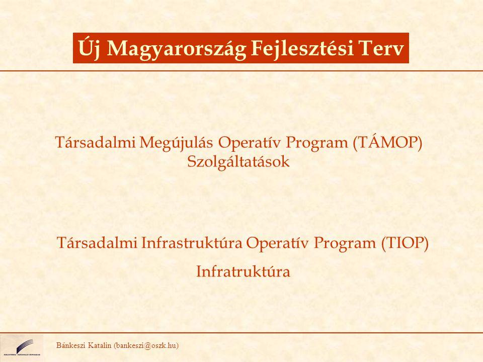 Társadalmi Megújulás Operatív Program (TÁMOP) Szolgáltatások Új Magyarország Fejlesztési Terv Bánkeszi Katalin (bankeszi@oszk.hu) Társadalmi Infrastru