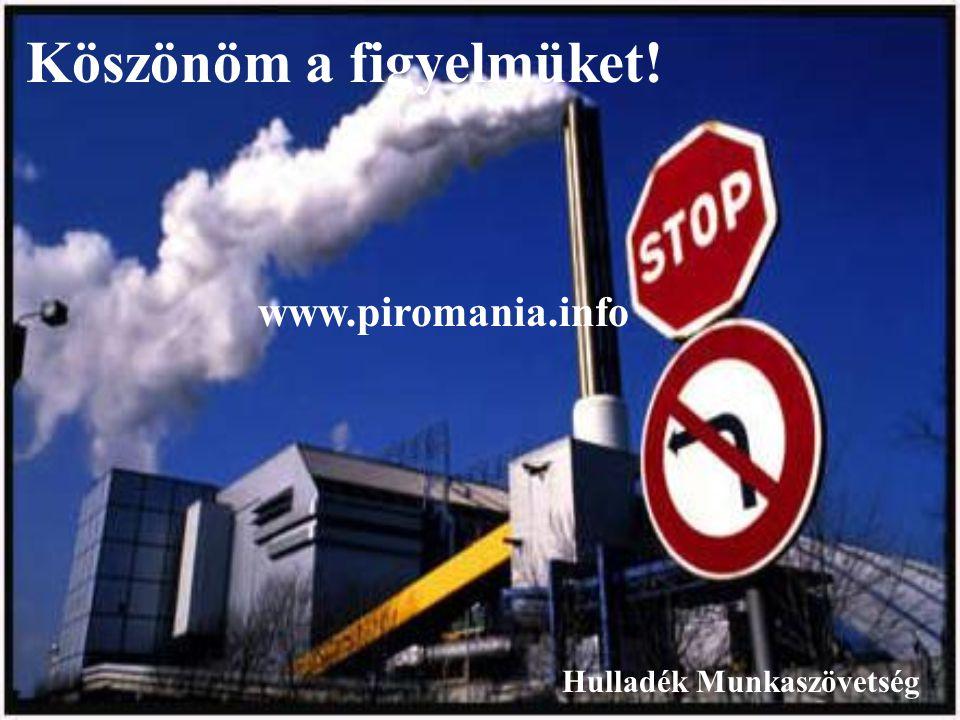 Köszönöm a figyelmüket! Hulladék Munkaszövetség www.piromania.info