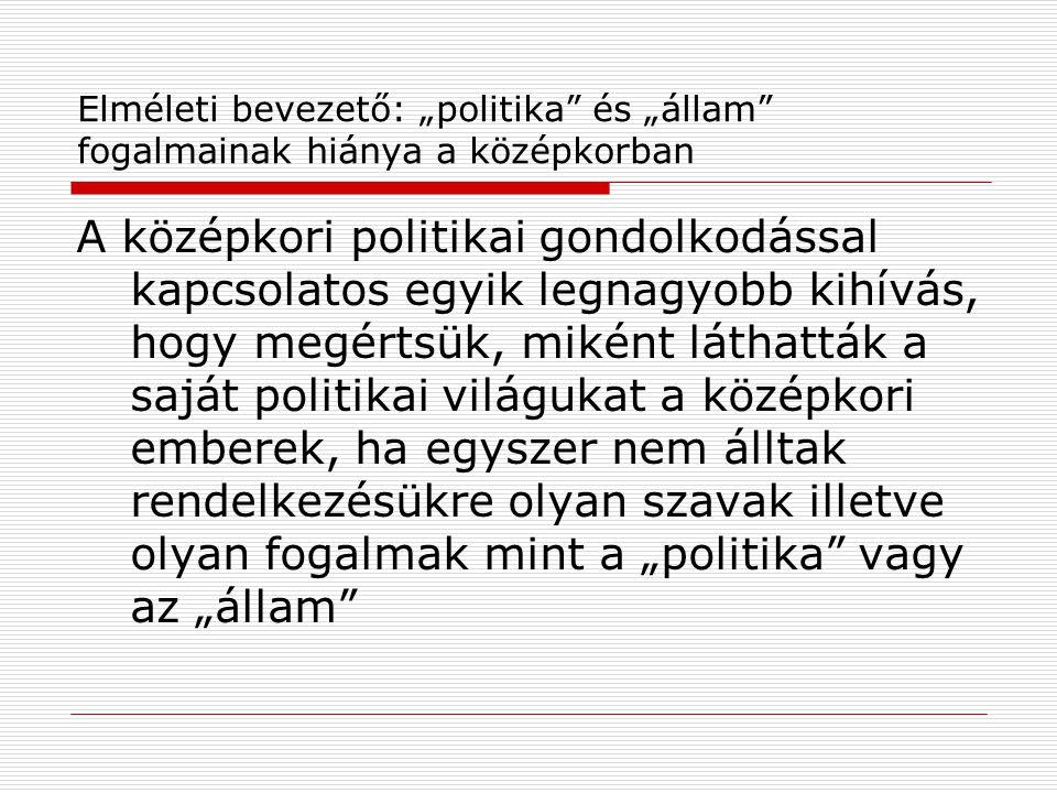 """[Exkurzus: a """"nomádállam problémája] Kristó Gyula egyik előadásában feltette a kérdést: tekinthető-e valamilyen értelemben államnak az """"államalapítás előtti nomád magyar hatalmi struktúra."""
