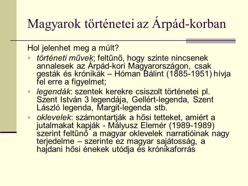 Magyarok történetei az Árpád-korban Hol jelenhet meg a múlt.