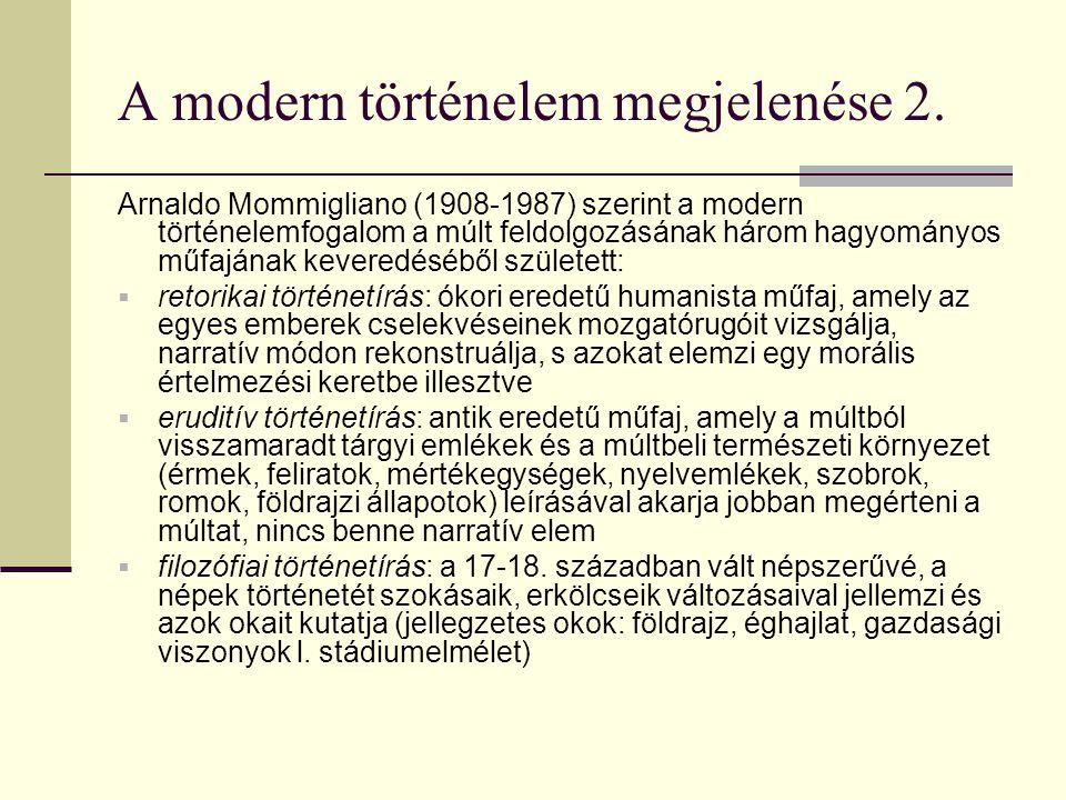 A modern történelem megjelenése 2.