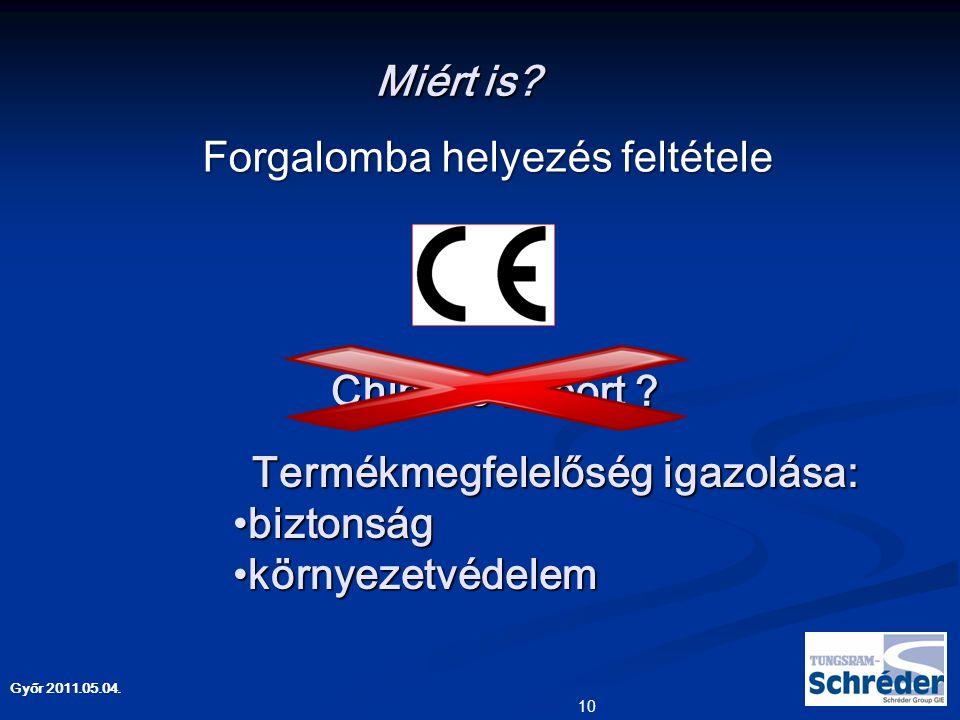 Győr 2011.05.04.Miért is.