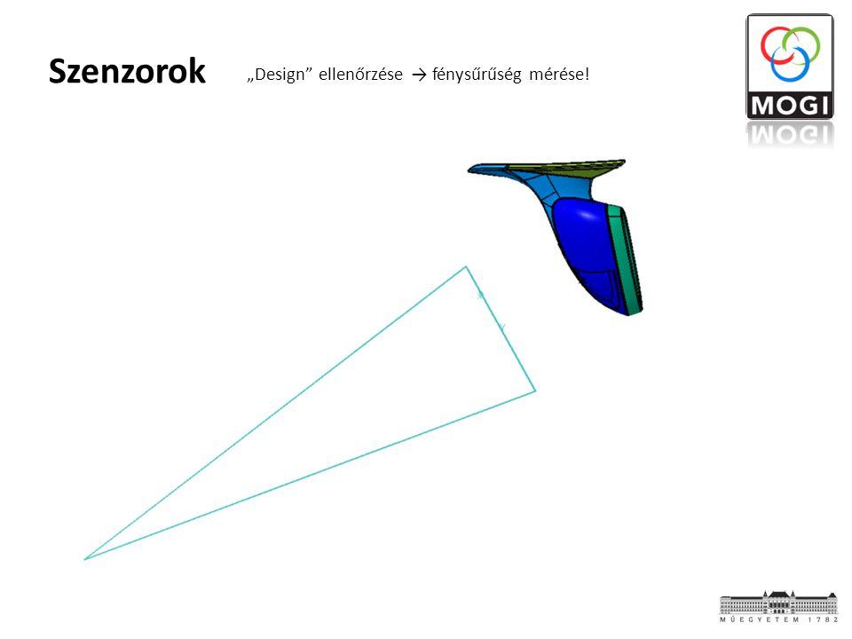"""Szenzorok """"Design"""" ellenőrzése → fénysűrűség mérése!"""
