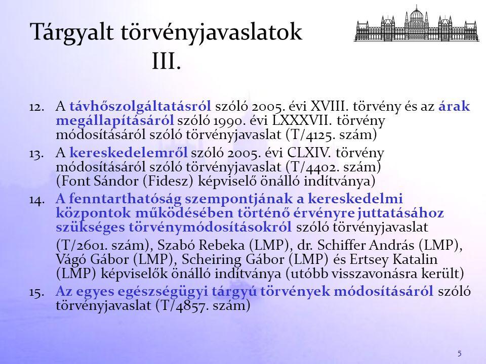 12. A távhőszolgáltatásról szóló 2005. évi XVIII. törvény és az árak megállapításáról szóló 1990. évi LXXXVII. törvény módosításáról szóló törvényjava