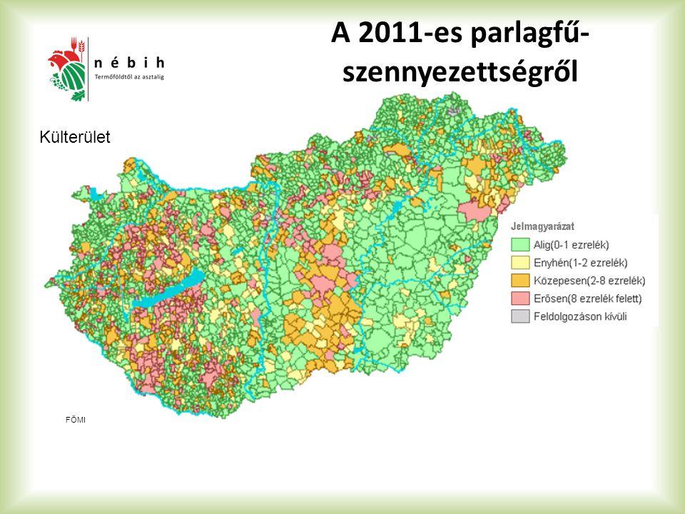 A 2011-es parlagfű- szennyezettségről FÖMI Külterület