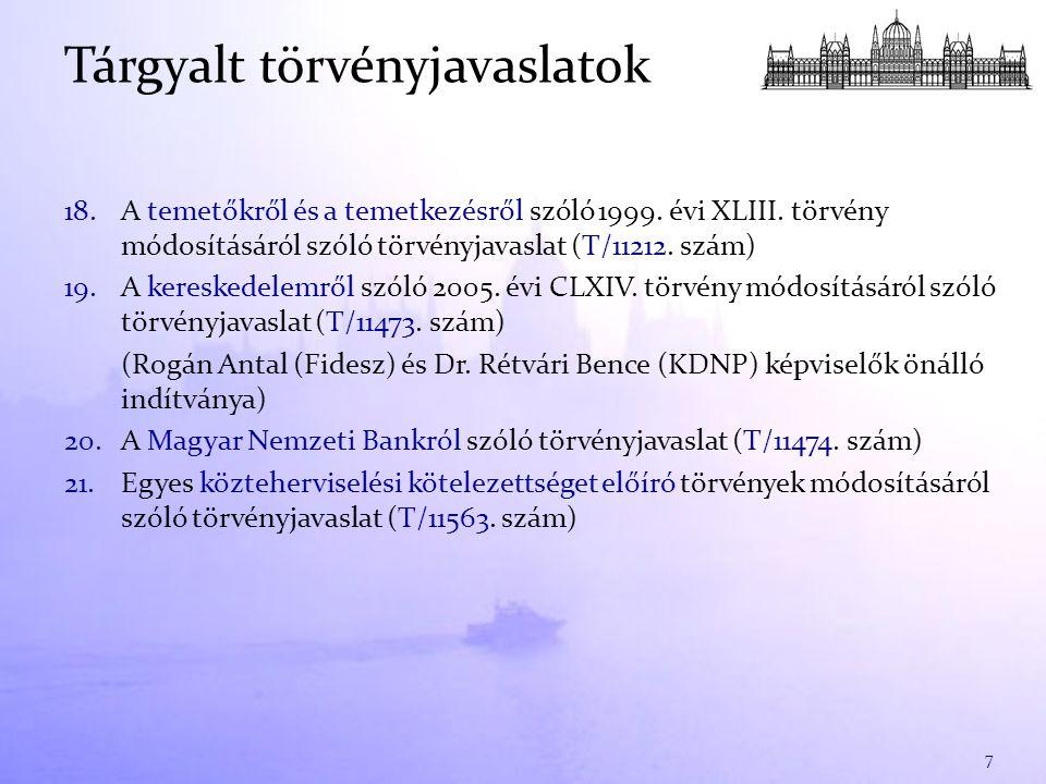 18.A temetőkről és a temetkezésről szóló 1999. évi XLIII.