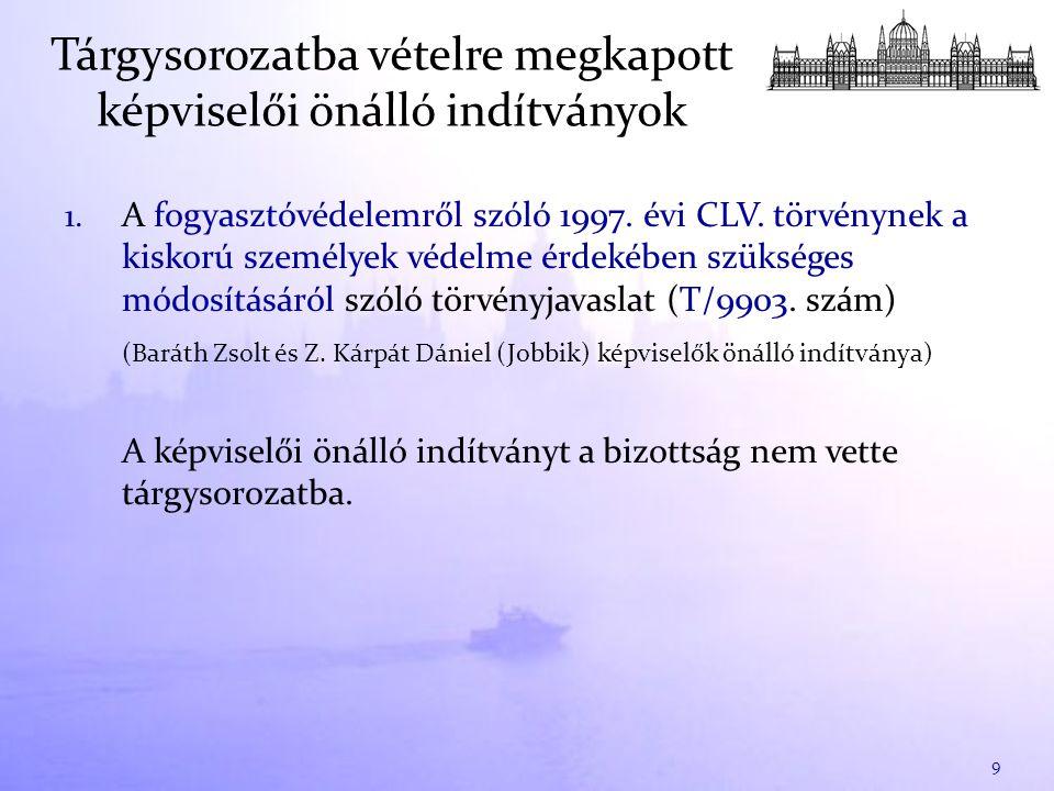 1. A fogyasztóvédelemről szóló 1997. évi CLV.