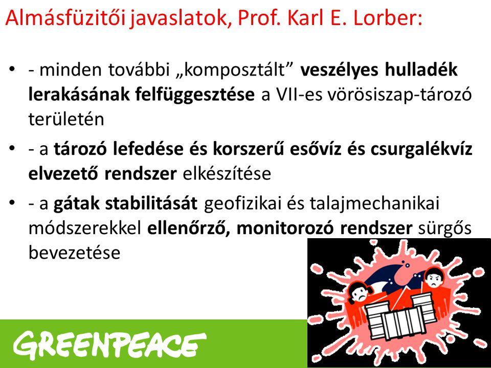 www.greenpeace.hu Almásfüzitői javaslatok, Prof. Karl E. Lorber: