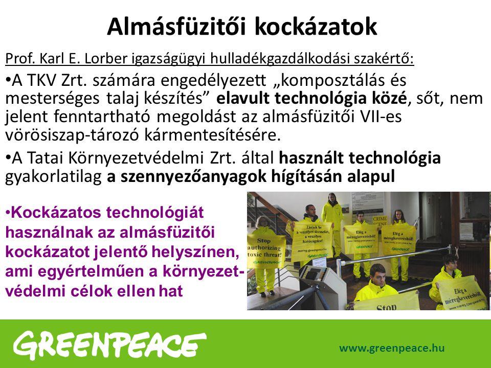 """Prof. Karl E. Lorber igazságügyi hulladékgazdálkodási szakértő: A TKV Zrt. számára engedélyezett """"komposztálás és mesterséges talaj készítés"""" elavult"""