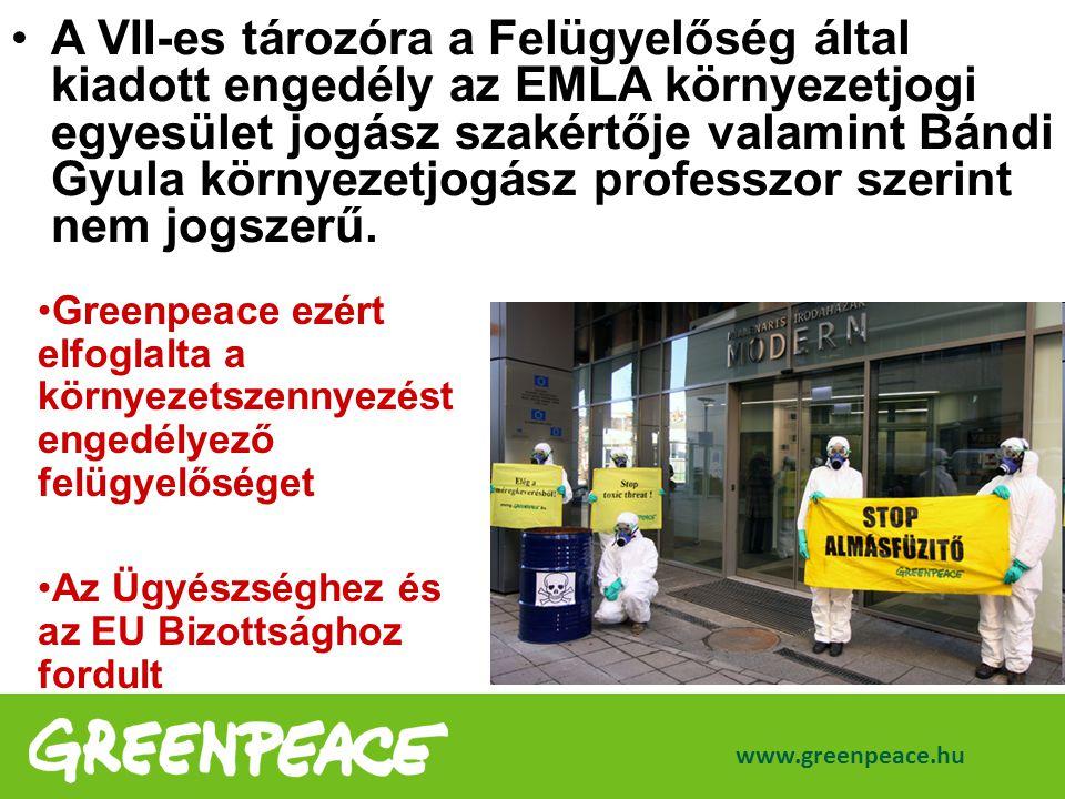 A VII-es tározóra a Felügyelőség által kiadott engedély az EMLA környezetjogi egyesület jogász szakértője valamint Bándi Gyula környezetjogász professzor szerint nem jogszerű.