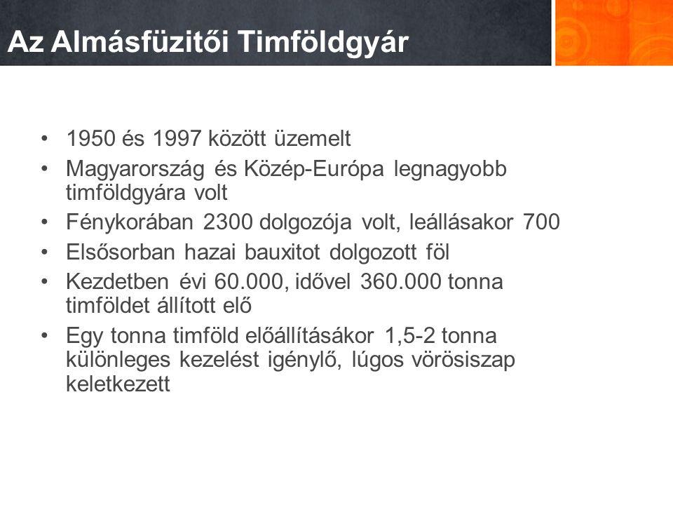 Az Almásfüzitői Timföldgyár 1950 és 1997 között üzemelt Magyarország és Közép-Európa legnagyobb timföldgyára volt Fénykorában 2300 dolgozója volt, leá