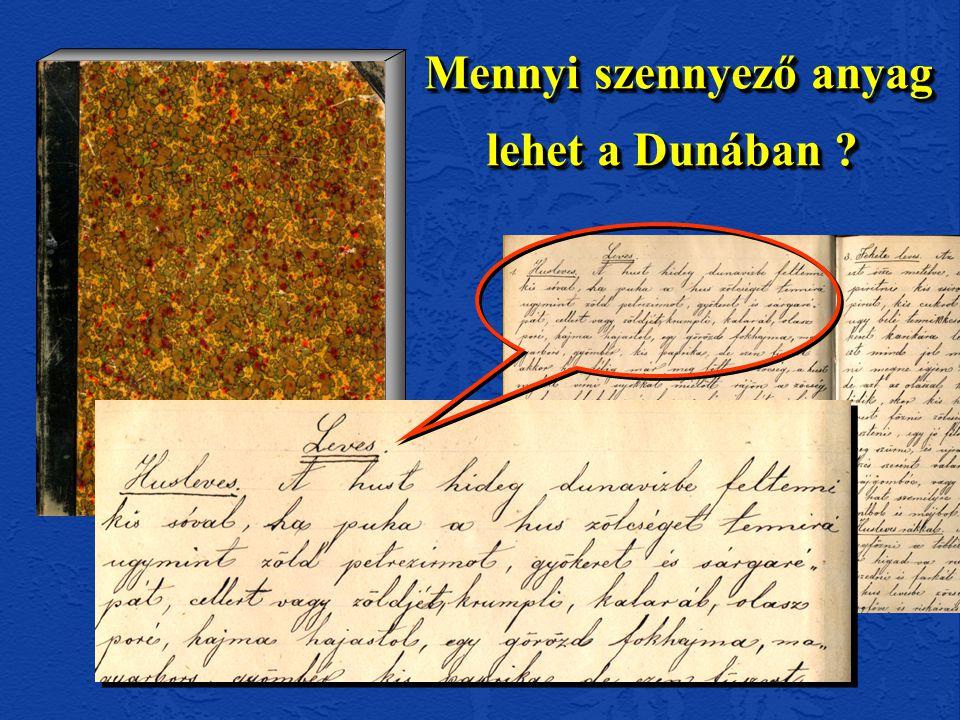 Mennyi szennyező anyag lehet a Dunában Mennyi szennyező anyag lehet a Dunában