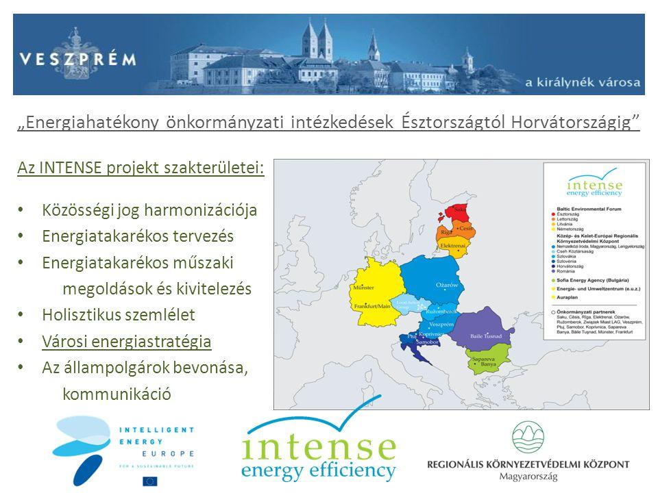 """""""Energiahatékony önkormányzati intézkedések Észtországtól Horvátországig"""" Az INTENSE projekt szakterületei : Közösségi jog harmonizációja Energiatakar"""