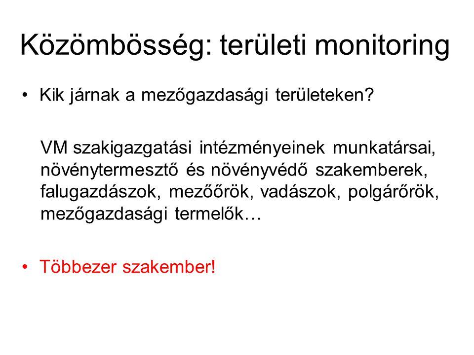 Közömbösség: területi monitoring Kik járnak a mezőgazdasági területeken.