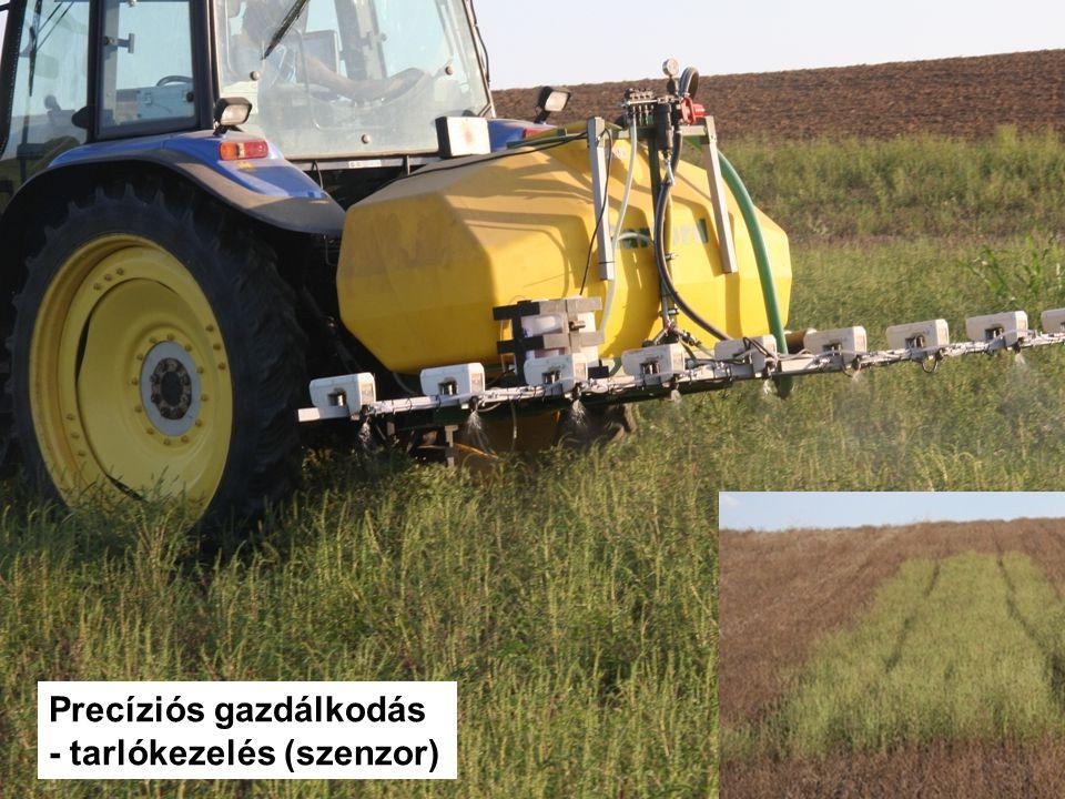 Precíziós gazdálkodás - tarlókezelés (szenzor)