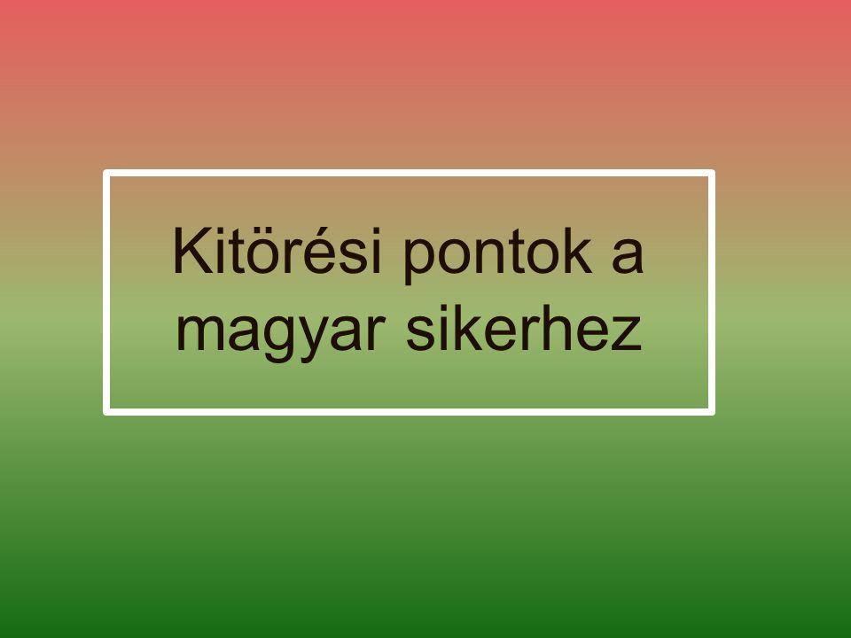 Kitörési pontok a magyar sikerhez