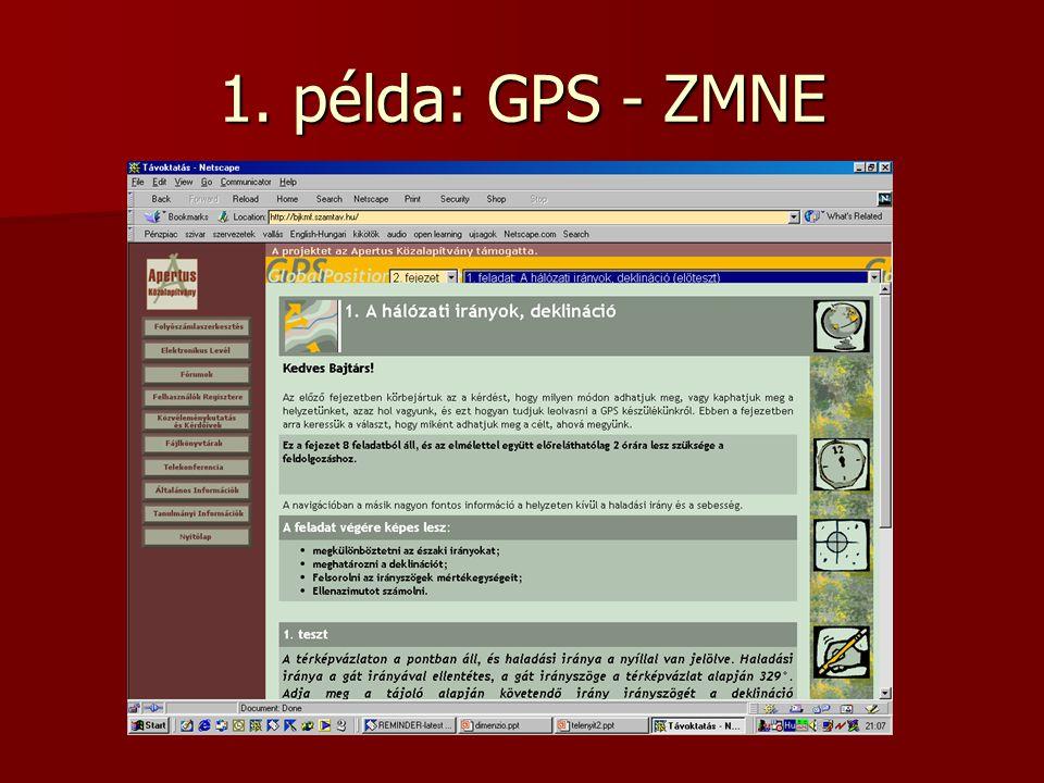 1. példa: GPS - ZMNE