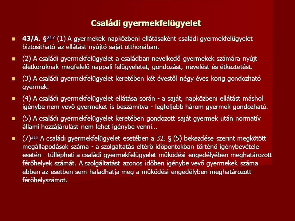 Családi gyermekfelügyelet 43/A.
