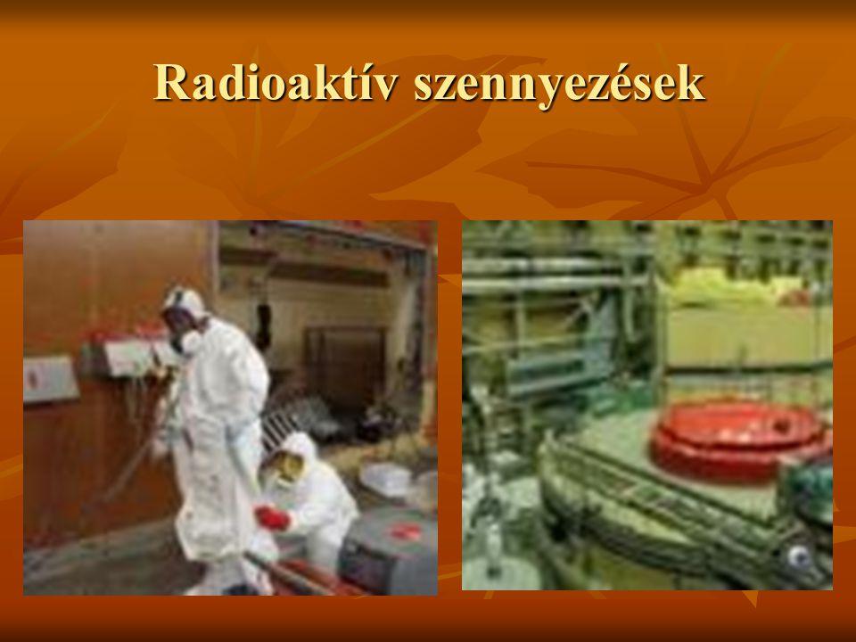 Radioaktív szennyezések