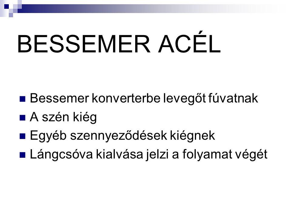 Thomas ACÉL Hasonló eljárás a Bessemer-féle acélkészítéshez a konverterbe kb.