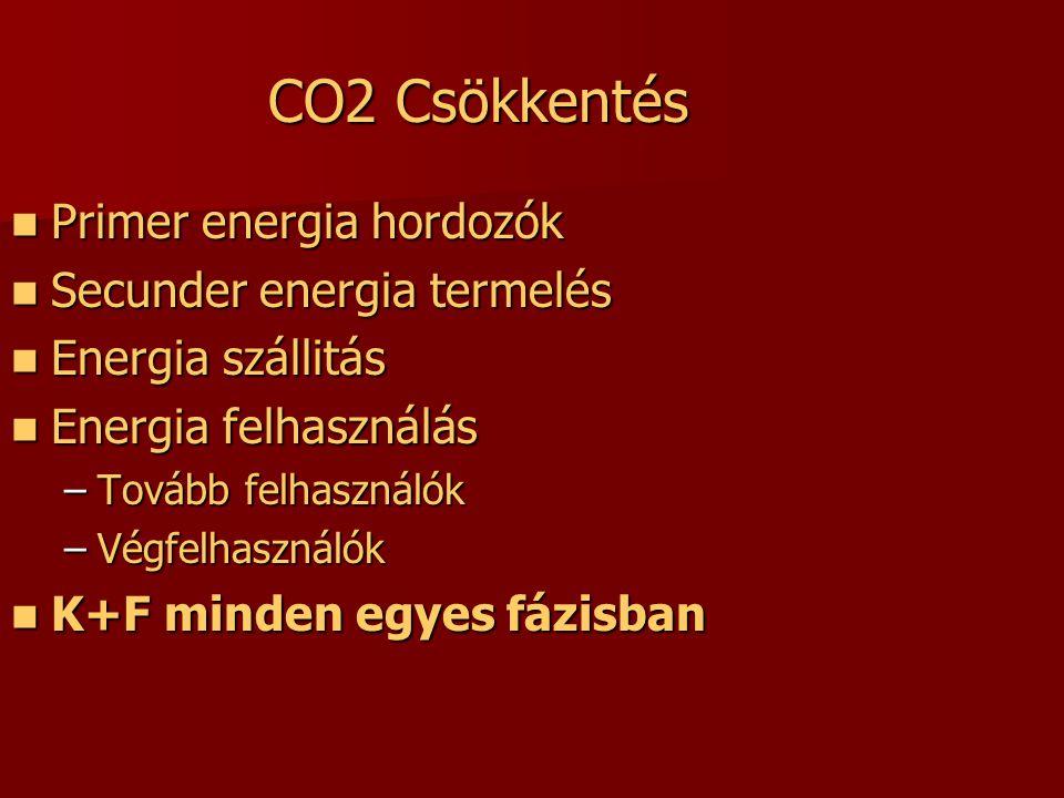 Európai energiamix szükségünk van minden energiaforrásra Alapanyag, Technológia, Lelőhely, Útvonal diverzifikáció, K+F fosszilis üzemanyagok versenyképes, hatékony, de környezetszennyező és importfüggőség atomenergia versenyképes, de politikailag és társadalmilag kényes megújulók ígéretes, népszerű, környezetbarát, de költséges és alacsony hatékonyságú Fúziós energia ideális, de költséges és még sokáig nem elérhető energia közlekedés szén Alacsony szén-energia nyersolaj bio üzemanyagok hibrid szinteti kus üzema nyagok