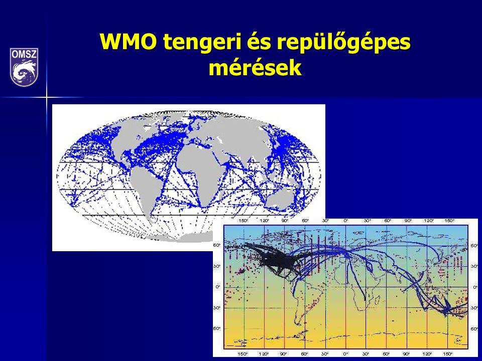WMO tengeri és repülőgépes mérések