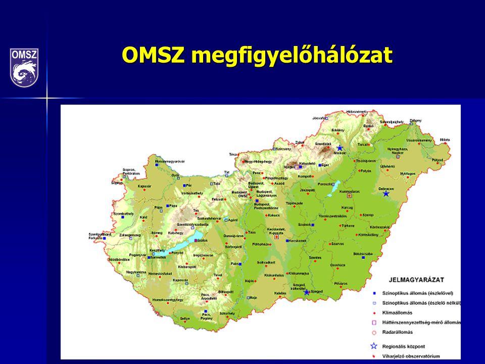 Időjárási és éghajlati szélsőségek vizsgálata Veszélyes időjárási folyamatok ultrarövidtávú előrejelzése (nowcasting), 174 kistérségre Veszélyes időjárási folyamatok ultrarövidtávú előrejelzése (nowcasting), 174 kistérségre METEOALARM európai riasztási rendszer METEOALARM európai riasztási rendszer Vízellátás (aszály, árvíz, intenzív csapadékok) Vízellátás (aszály, árvíz, intenzív csapadékok) Hőmérséklet (téli hidegek, késő tavaszi és kora őszi fagyok, hőhullámok) Hőmérséklet (téli hidegek, késő tavaszi és kora őszi fagyok, hőhullámok) Klímaindexek Klímaindexek Homogenizált adatsorok Homogenizált adatsorok Kapcsolódás az EU Global Monitoring for Environment and Security (GMES) Atmospheric Environmental Services rendszeréhez Kapcsolódás az EU Global Monitoring for Environment and Security (GMES) Atmospheric Environmental Services rendszeréhez